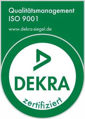 DEKRA Siegel ISO 9001 ASG SECURA GmbH Frankfurt